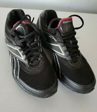 Reebok Easytone Athletic Running Toning Shoes Womens Size 6.5 Black / Silver