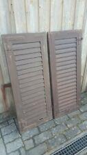 1 Paar Fensterladen - Holz - gebraucht - Höhe 124 cm - Breite 51,5 cm