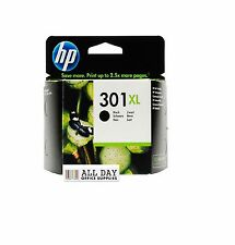 Nuevo Genuino/Original HP 301XL Negro para HP Deskjet 2540/1010 (CH563EE) Iva Inc