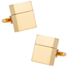 USB Flash Drive Cufflinks in Goldtone 4GB Direct from Cuff-Daddy