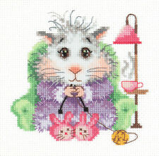 "Counted Cross Stitch Kit WONDERFUL NEEDLE - ""I knit for sale"""