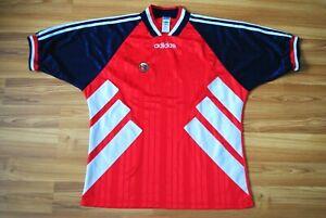 NORWAY HOME FOOTBALL SHIRT 1993/1994/1995 JERSEY ADIDAS SOCCER TRIKOT SIZE XL