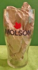 MOLSON Red Maple Leaf Tulip Pint Glass Bar ManCave Collector