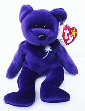 TY BEANIE BABY PRINCESS BEAR 5TH GEN HANG TAG 6TH GEN TUSH TAG P.E. ERRORS NEW
