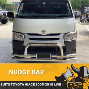 Stainless Steel Nudge Bar to suit Toyota Hiace 2005-2018 LWB Front Bar Chrome