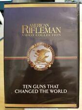 NRA American Rifleman, Ten Guns That Changed the World DVD, Mint Disc Ships Free