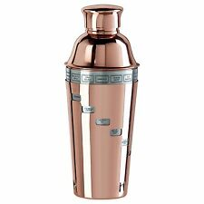 34-Ounce Copper Plated Stainless Steel Dial 15-Drink Recipe Cocktail Shaker New