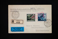 Liechtenstein Stamp #C4-5 on Registered Flight Cover