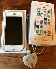 APPLE IPHONE 5s SMARTPHONE GOLD WHITE 16GB BOXED WITH CHARGER 3 MOBILE PHONE