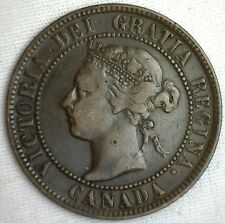 1895 Copper Canadian Large Cent Coin 1-Cent Canada VF #2