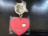 Furla Venus Heart Keychain Key Ring Rosa New with Tags