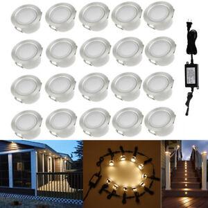 20x 45mm Warm White Yard Landscape Outdoor Lamp LED Deck Path Soffit Step Lights