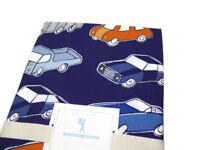 Pottery Barn Kids Cars Trucks Organic Cotton Full Queen Duvet Cover 2 Shams
