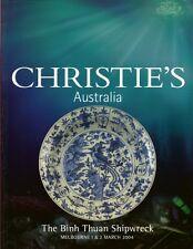 RARE - CHRISTIE'S Binh Thuan Shipwreck Chinese Porcelain Artfact Catalog 2004