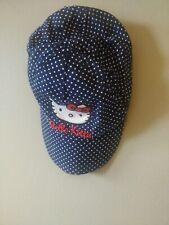 Hello Kitty Navy Blue Baseball Cap White Polka Dots Age 4-6 H&M VGC