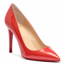 Christian Louboutin Pigalle 100 light red patent leather Pumps Shoes Heels