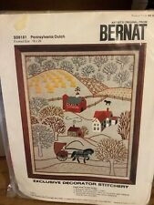Stitchery Bernat Pennsylvania Dutch Kit New Vintage 1975 Sealed Needlepoint