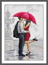 Counted Cross Stitch Kit OVEN - In the arms of rain