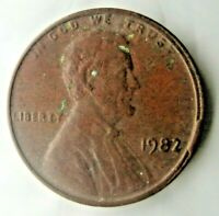 1982 Lincoln Penny Copper Planchet Off Centered Error Transitional US Coin 3.1g