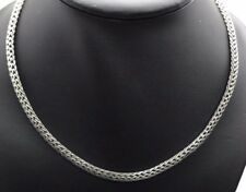 Vintage Oxidized Sterling Silver 925 Marcasite Woven Mesh Chain 4.7 mm Necklace