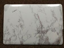 "Apple Macbook Pro 15.4"" Hard Case Shell White Marble Pattern"