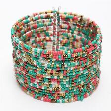 1pc Chic Women Fashion Bohemian Beads Beaded Bracelet Chain Open Design Multicolor
