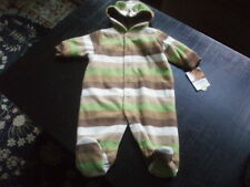 NWT ~ CARTERS ~ BABY BOYS WINTER FLEECE HOODED PRAM ~...