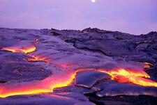 Framed Print - Blisteringly Hot Hawaiian Lava Fields (Picture Poster Volcano)