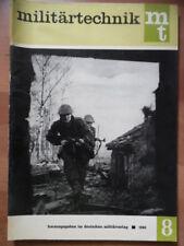 MILITÄRTECHNIK 8/1965 Stoßtruppen SECAM-Farbfernsehsystem Soldaten NVA DDR