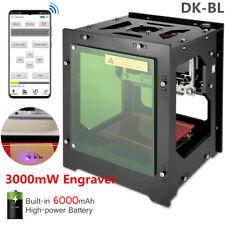 3000mW Bluetooth 6000mAh Art USB Laser Engraver Engraving Machine Printer DK-BL