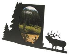 Bugling elk black metal 5x7V picture frame