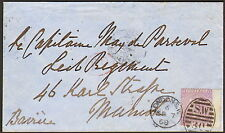 K327)Großbritan Mi.-Nr.29 auf Brief, EF mit breitem, rechten Rand nach München