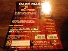 DAVE MASON - Plan média / Press kit !!! LIVE AT SUNRISE !!!