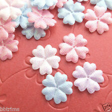 """New listing 150 pcs x 5/8"""" Mix Padded Shiny Spring Flower Appliques for Bows/Wedding St265"""