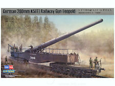 Hobbyboss 82903 1:72nd escala alemán 280mm K5 (e) pistola de ferrocarril Leopold