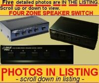 SPEAKER SWITCHER SELECTER SELECTOR - 2,3 or 4 ZONE/ROOM