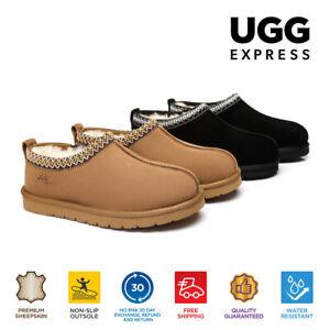 UGG Slipper Mens Vincent Size 12 Australian Sheepskin Slippers Knit Collar