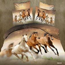 Horses Queen Size Quilt Duvet Covers Set Doona Covers Bed Linen Pillow Cases New
