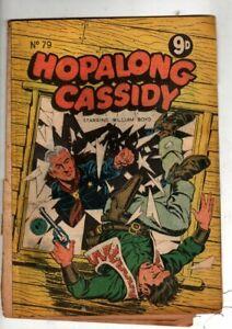 HOPALONG CASSIDY  No 79 1955 BY FAWCETT .GOLDEN   AGE AUSTRALIAN  COMIC  VG