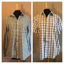 2xbundle Men's Check Shirt, Wrangler, Jack & Jones, Medium VGC