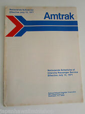 Amtrak USA Railways INTERCITY Train Timetable Fahrplan Horaire 12-JULY-1971