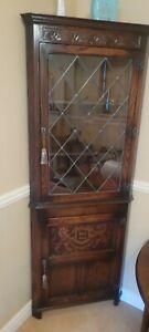 Genuine Hardwood Jaycee oak corner cabinet