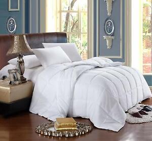 King / Cal King Size Box Stitch All Seasons Medium Down Alternative Comforter