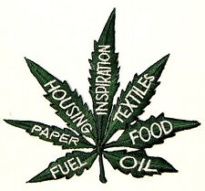 Benefits of Cannabis 6 Hemp Uses Pot Leaf Legalize Weed Iron-On Applique Patch