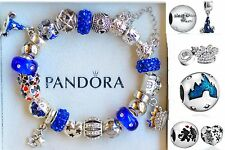 Authentic PANDORA BRACELET Disney world Mickey Minnie Hat Blue Fantasia Charms