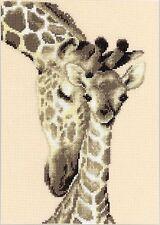 VERVACO  0012183  Famille de Giraffes  Kit  Broderie  Point de Croix  Compté