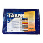 15' x 15' Blue Poly Tarp 2.9 OZ. Economy Lightweight Waterproof Cover Camping