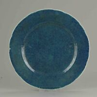 "Antique 19/20C Chinese Porcelain 'Robin's Egg Glaze"" plate Qianlong marked"