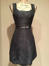 MAX AND CLEO BLACK DRESS CUTE STRAPS AND RHINESTONE ACCENTS SIZE 2 NWT