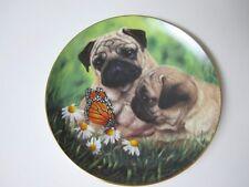 The Danbury Mint Pug-Eyed Plate by Simon Mendez